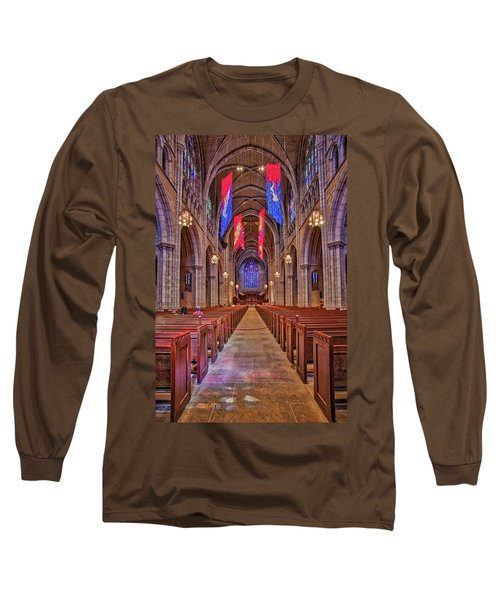 Long Sleeve T-Shirt featuring the photograph Princeton University Chapel by Susan Candelario