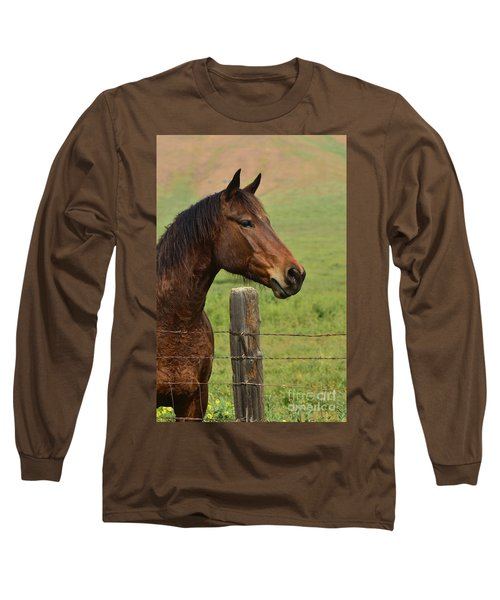 Long Sleeve T-Shirt featuring the photograph Profile Of A Bay by Debby Pueschel