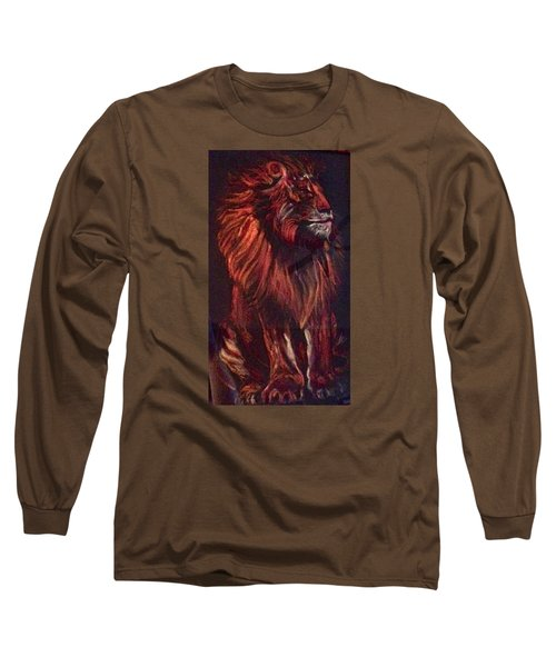 Long Sleeve T-Shirt featuring the pastel Proud King by Ellen Canfield