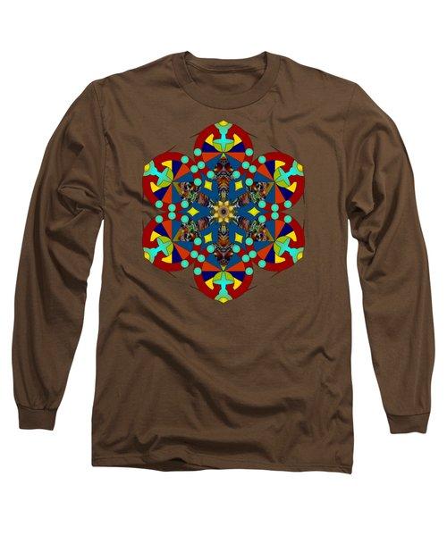 Psychedelic Mandala 007 A Long Sleeve T-Shirt by Larry Capra