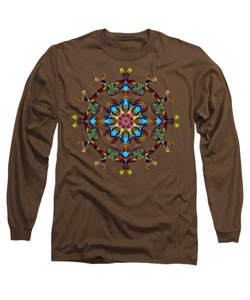 Psychedelic Mandala 010 A Long Sleeve T-Shirt by Larry Capra