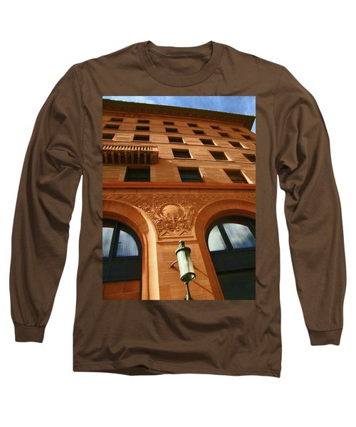 Pueblo Downtown Thatcher Building 2 Long Sleeve T-Shirt by Lenore Senior