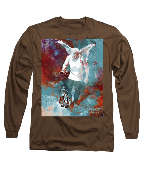 Long Sleeve T-Shirt featuring the painting Puppet Man 003 by Gull G