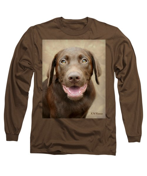 Puppy Power Long Sleeve T-Shirt by Kathy M Krause