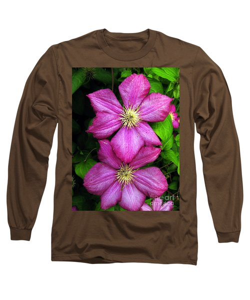 Purple Clematis 2 Long Sleeve T-Shirt