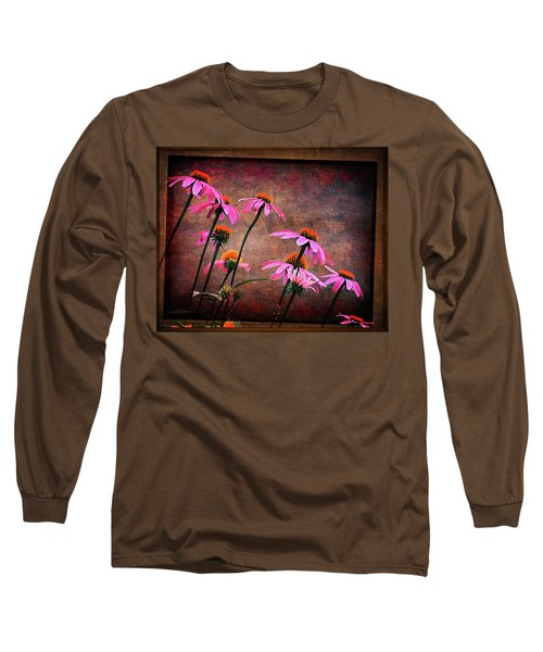 Purple Coneflowers Out Of Alignment  Long Sleeve T-Shirt