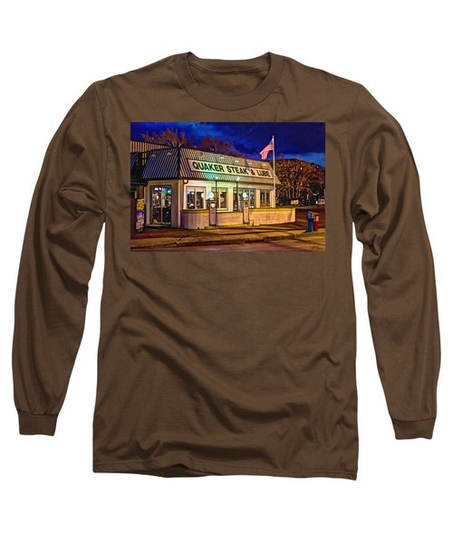 Quaker Steak And Lube Long Sleeve T-Shirt by Skip Tribby