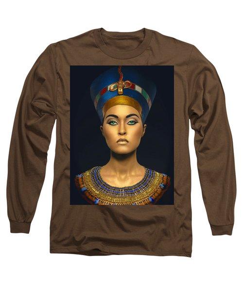 Long Sleeve T-Shirt featuring the digital art Queen Esther by Karen Showell