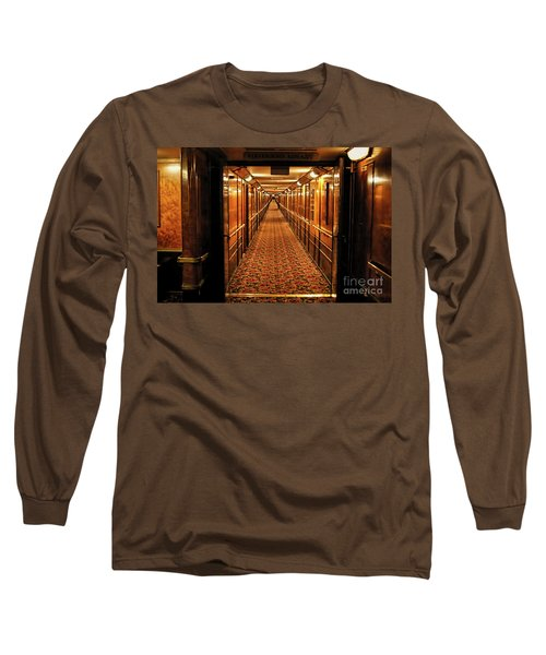 Long Sleeve T-Shirt featuring the photograph Queen Mary Hallway by Mariola Bitner