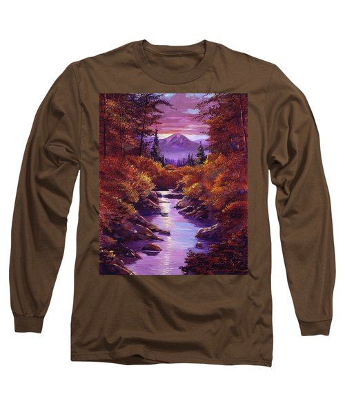 Quiet Autumn Stream Long Sleeve T-Shirt