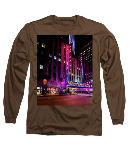 Long Sleeve T-Shirt featuring the photograph Radio City Music Hall by M G Whittingham