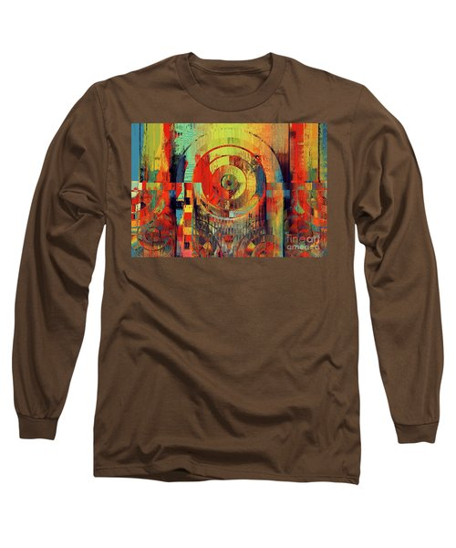 Long Sleeve T-Shirt featuring the digital art Rainbolo - 01t01ii by Variance Collections
