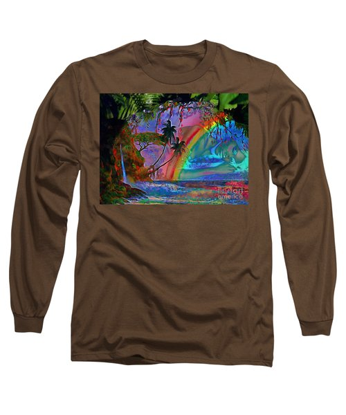 Rainboow Drenched In Layers Long Sleeve T-Shirt by Catherine Lott