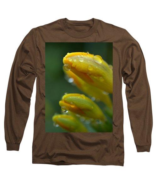 Raindrops Long Sleeve T-Shirt by Rachel Mirror