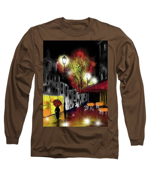 Raining And Color Long Sleeve T-Shirt