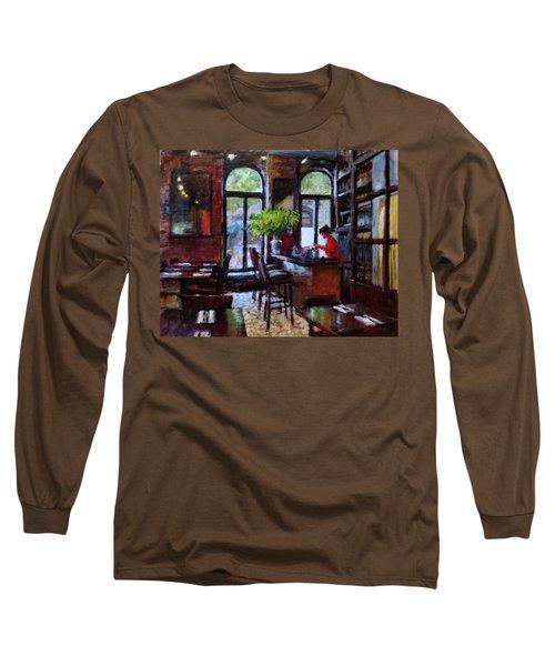 Rainy Morning In The Restaurant Long Sleeve T-Shirt