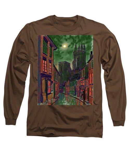 Rainy Night In Kirkgate Long Sleeve T-Shirt