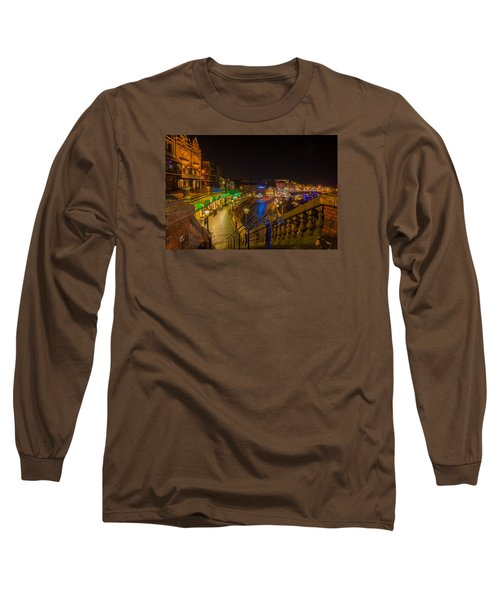 Ramsgate West Cliff Arcade Restaurants At Night  Long Sleeve T-Shirt