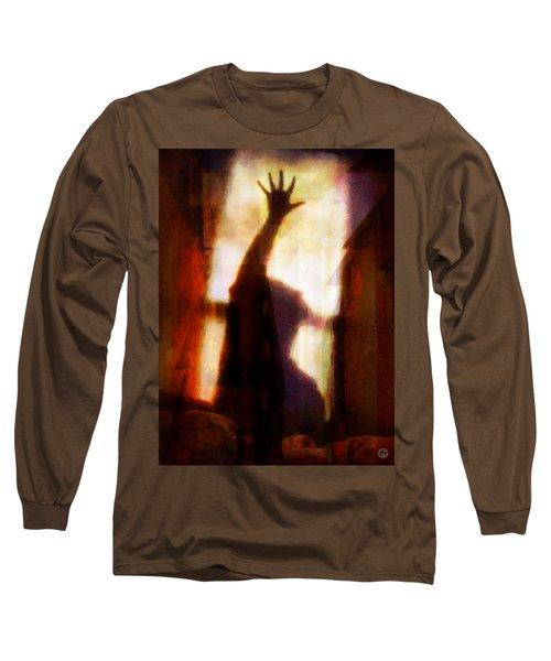 Reaching For The Light Long Sleeve T-Shirt by Gun Legler