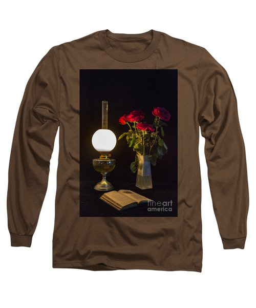 Reading By Oil Lamp Long Sleeve T-Shirt