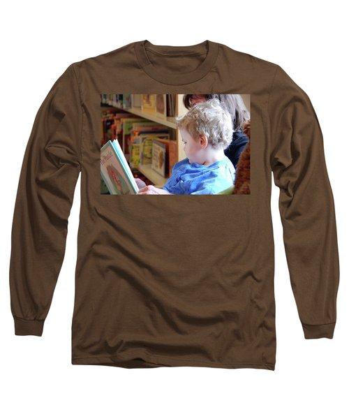 Reading Nurtures The Gardens Of The Mind Long Sleeve T-Shirt by John Schneider