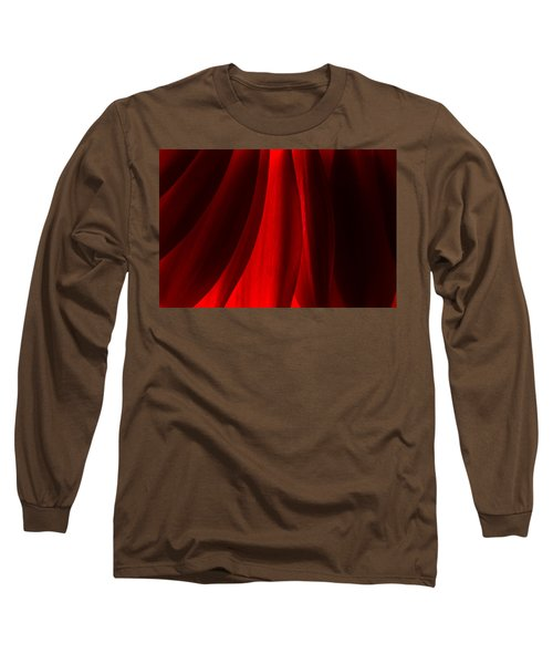Red Abstract Of Chrysanthemum Wildflower Long Sleeve T-Shirt