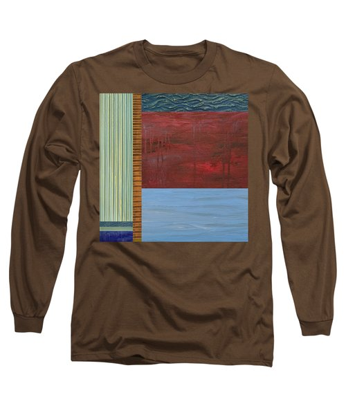 Red And Blue Study Long Sleeve T-Shirt