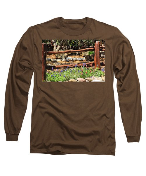 Red And Bluebonnets Long Sleeve T-Shirt