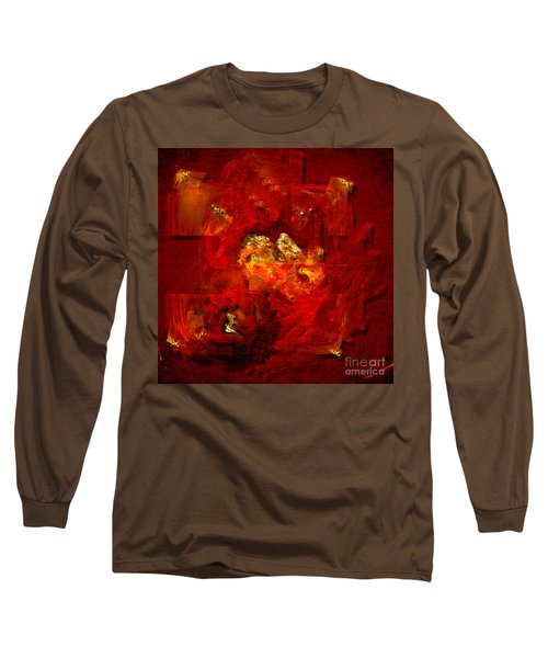 Long Sleeve T-Shirt featuring the painting Red And Gold by Alexa Szlavics