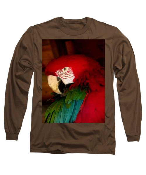 Red And Green Wing Macaw Long Sleeve T-Shirt