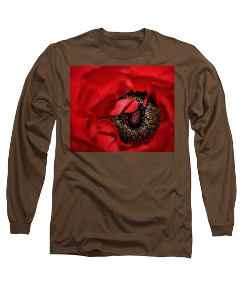 Red Anemone Long Sleeve T-Shirt