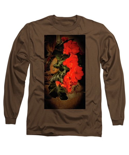Long Sleeve T-Shirt featuring the photograph Red Begonias by Thom Zehrfeld