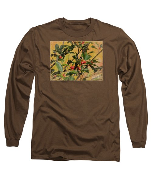 Red Berry Long Sleeve T-Shirt by Mim White