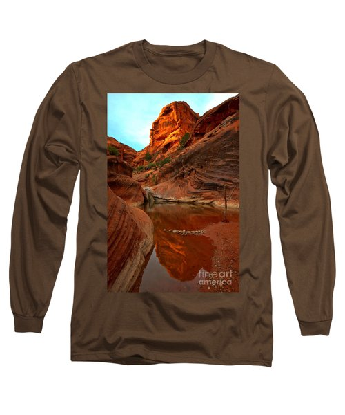 Red Cliffs Reflections Long Sleeve T-Shirt