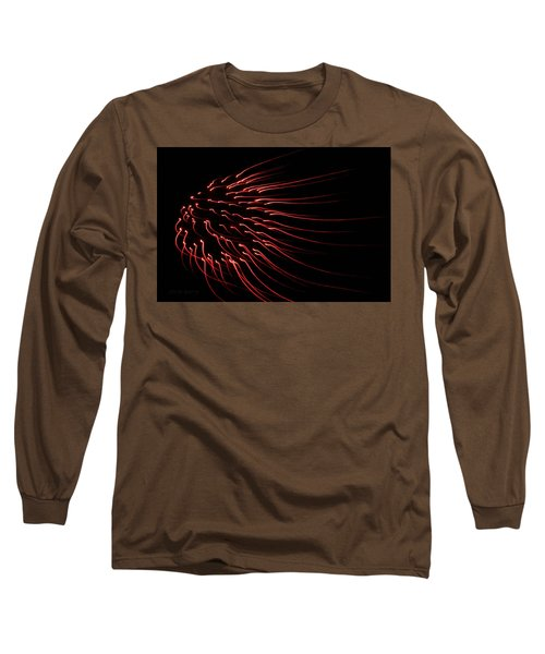 Long Sleeve T-Shirt featuring the photograph Red Firework  by Chris Berry