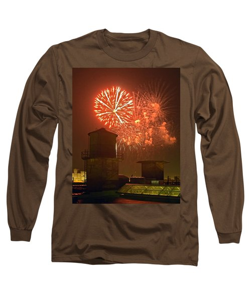 Red Fireworks Long Sleeve T-Shirt