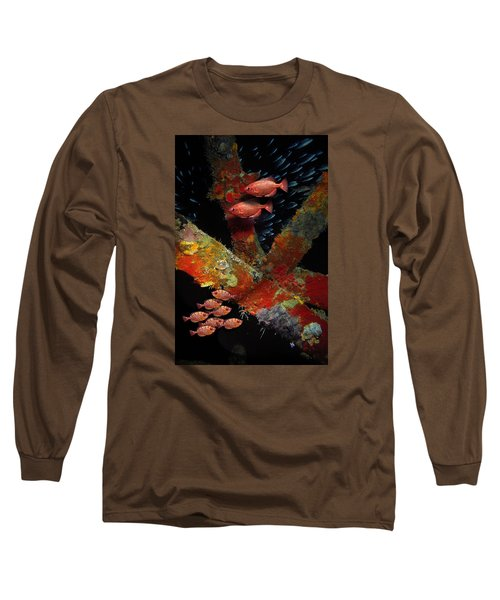 Red Fish On The Rhone Long Sleeve T-Shirt