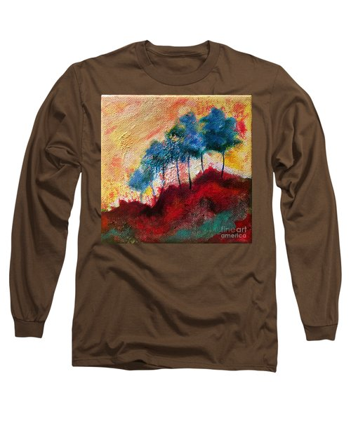 Red Glade Long Sleeve T-Shirt by Elizabeth Fontaine-Barr
