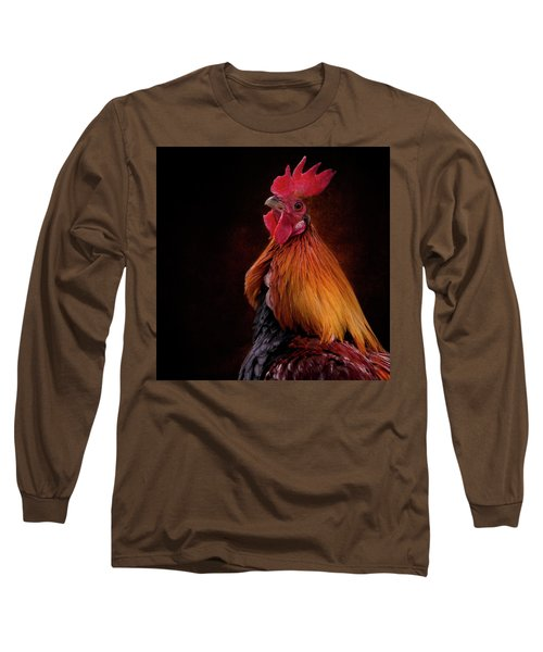 Red Jungle Fowl Rooster Long Sleeve T-Shirt