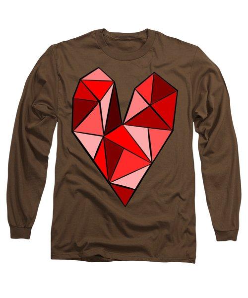 Red Line Heart Long Sleeve T-Shirt
