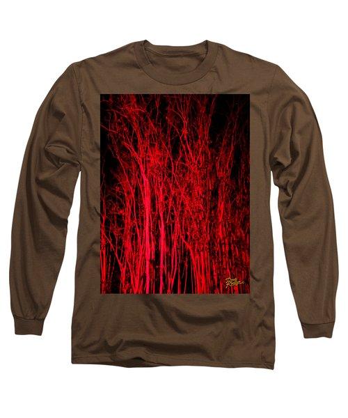 Red Magic Long Sleeve T-Shirt by Doug Kreuger