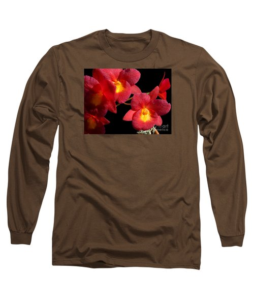 Red Orchids Long Sleeve T-Shirt