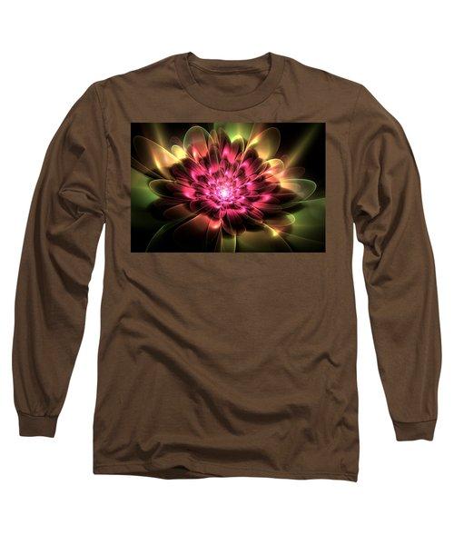 Long Sleeve T-Shirt featuring the digital art Red Peony by Svetlana Nikolova