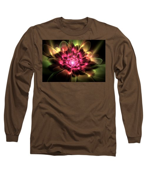 Red Peony Long Sleeve T-Shirt