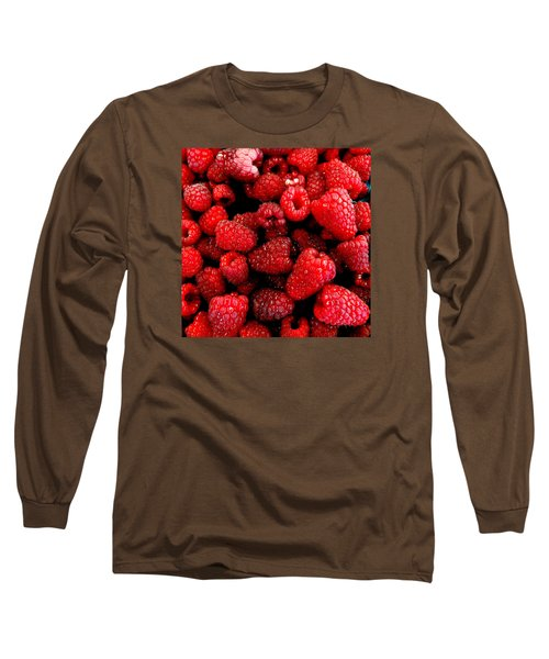 Long Sleeve T-Shirt featuring the photograph Red Raspberries by Nick Kloepping