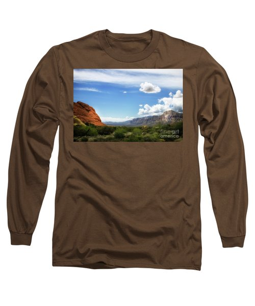 Red Rock Canyon Vintage Style Sweeping Vista Long Sleeve T-Shirt