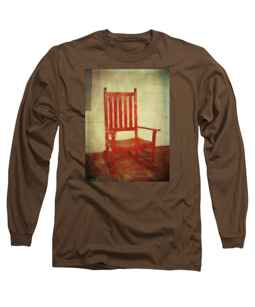 Long Sleeve T-Shirt featuring the photograph Red Rocker by Bellesouth Studio