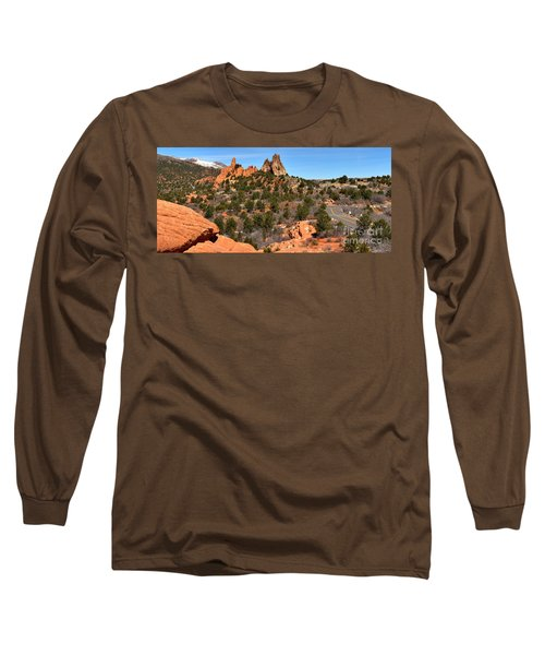 Long Sleeve T-Shirt featuring the photograph Red Rocks At High Point by Adam Jewell
