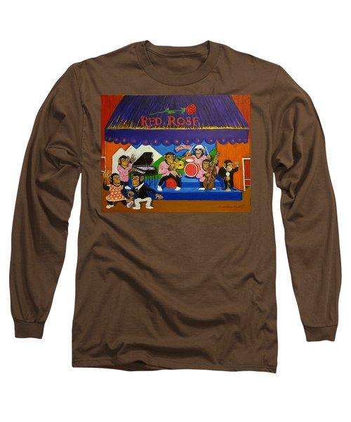 Red Rose Tea Chimpanzees Long Sleeve T-Shirt