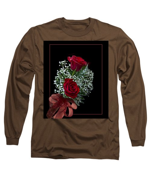 Long Sleeve T-Shirt featuring the photograph Red Roses For A Blue Lady by Judy Johnson